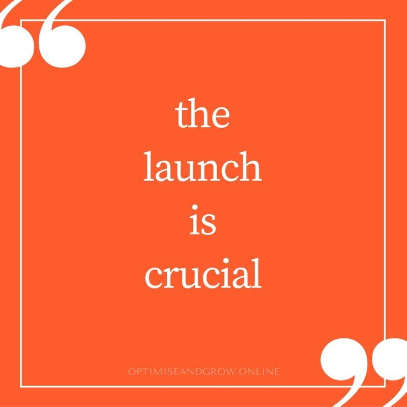 online marketing launch is crucial