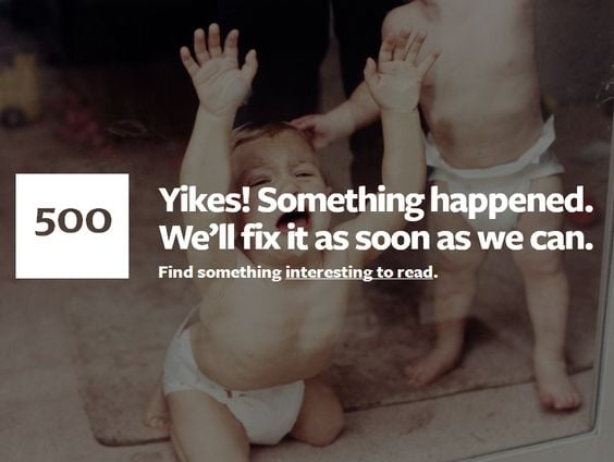 404 error page customer experience funny
