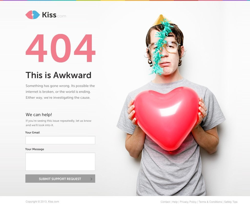 404 page contact form