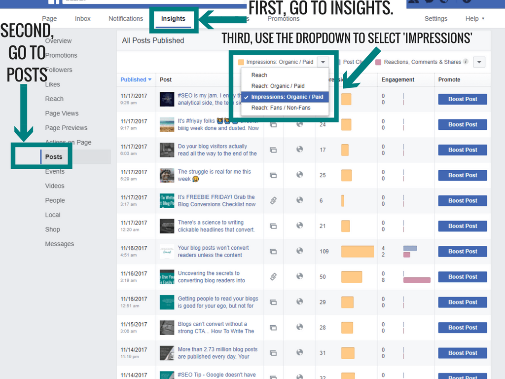Facebook Insights Made Easy- How To Understand Advanced Metrics How To Find Impressions On Facebook Insights (1)