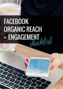 Organic Facebook Reach Engagegment Checklist