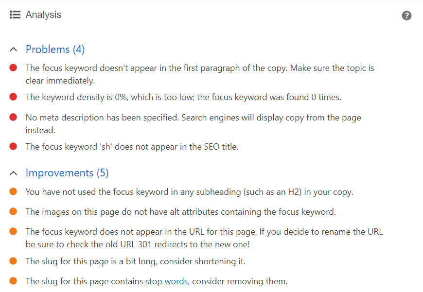 Problems Yoast WordPress SEO