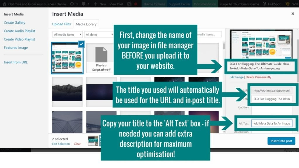 SEO For Blogging The Ultimate Guide - How To Add Meta Data To An Image