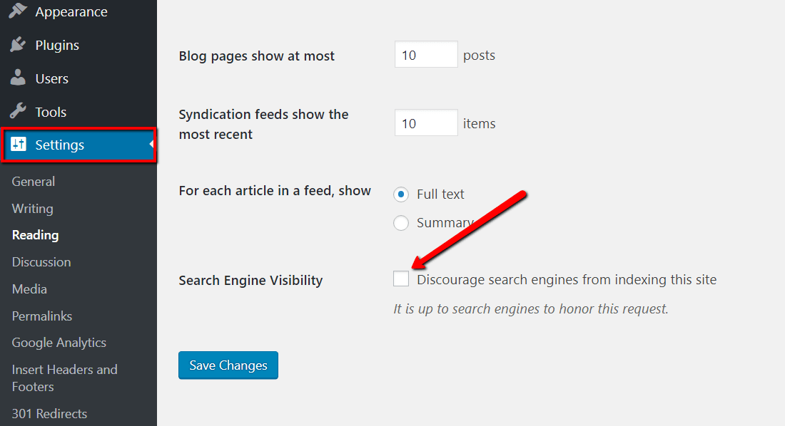 Wordpress SEO search engine visibility