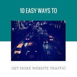 easy ways to get more website traffic